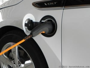 2012 Volt-plugged in
