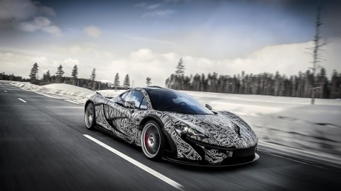 McLaren P1 taken to the Extreme on Snow! [VIDEO]