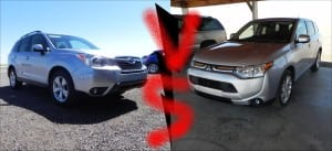 2014 Mitsubishi Outlander vs. 2014 Subaru Forester