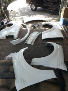 The body pieces ready for assembly.