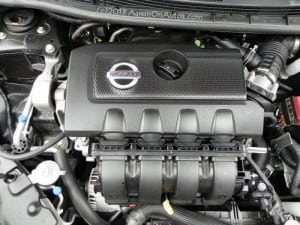 2013 Nissan Sentra SL - engine compartment engine focus 800pxAOA