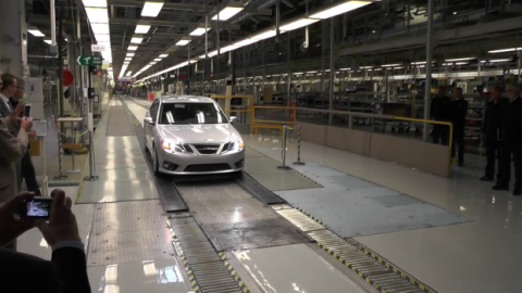 Check out the first 2014 Saab 9-3 to roll out of Trollhattan [VIDEO]