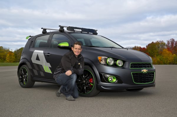 Ricky Carmichael with his All-Activity Chevrolet Sonic concept