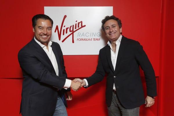 1. Alex Tai (left), Team Principal of Virgin with Alejandro Agag, CEO of Formula E Holdings