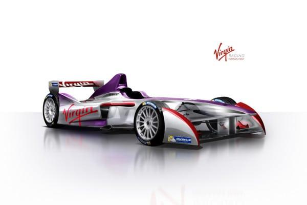 2. The new car livery for the Virgin Formula E Team