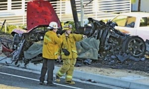 Paul Walker car crash scene 2
