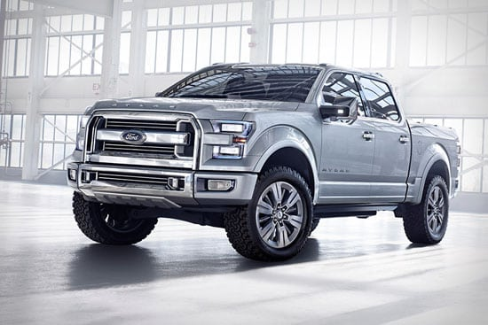 The all-new 2015 Ford F-150, thought to be based on this Atlas concept, is rumored to be delayed due to aluminum problems.