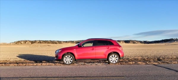 2013 Mitsubishi Outlander Sport - country road1 - AOA1200px