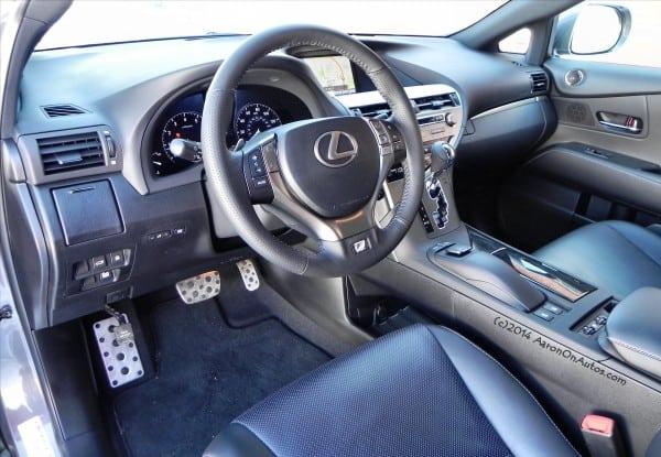 2014-LexusRX350 F-Sport driver side interior AOA1200px