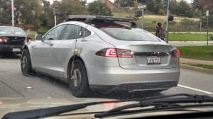 Tesla Motors Model S car security system