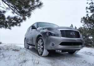 2014 Infiniti QX80 - in snow2 - AOA1200px