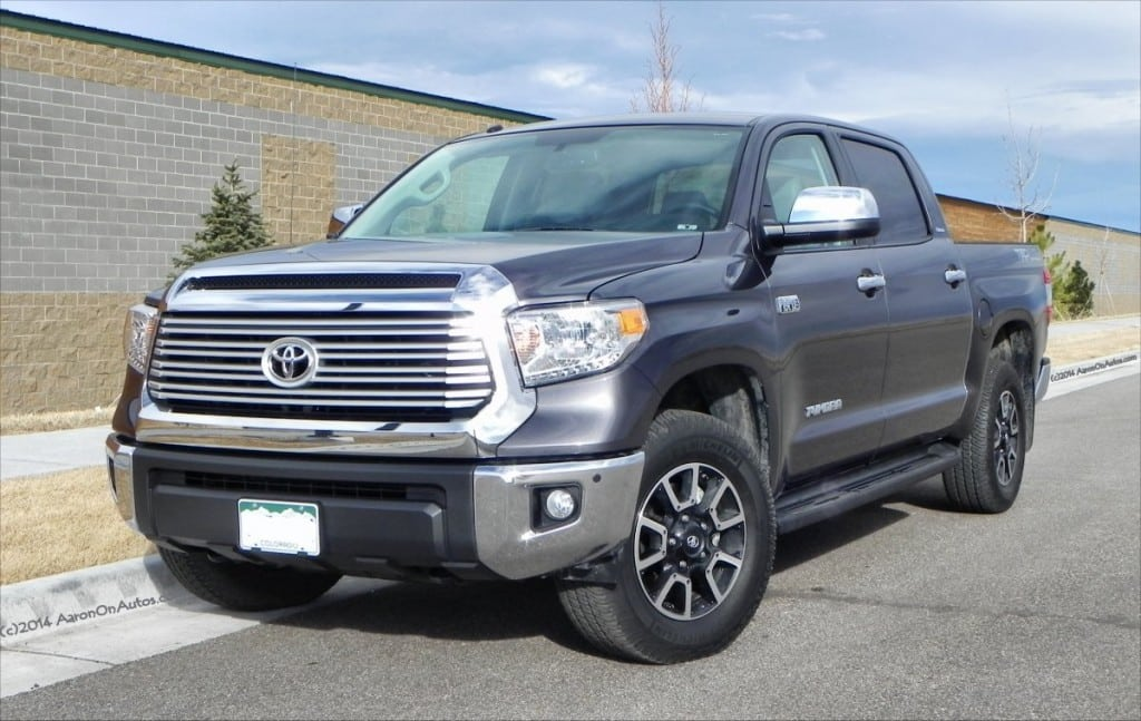 2014 Toyota Tundra Limited TRD - front corner - AOA1200px