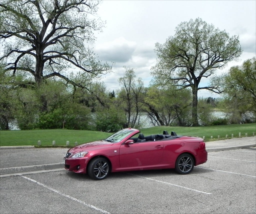 2014 Lexus IS350 F-Sport Convertible - top down 2 - AOA1200px