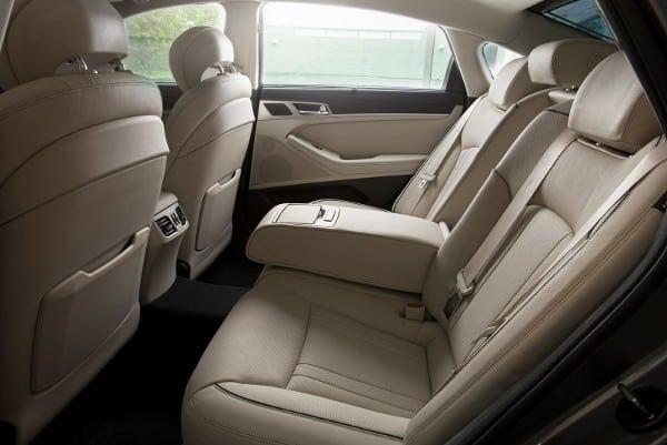 hyundai genesis backseat