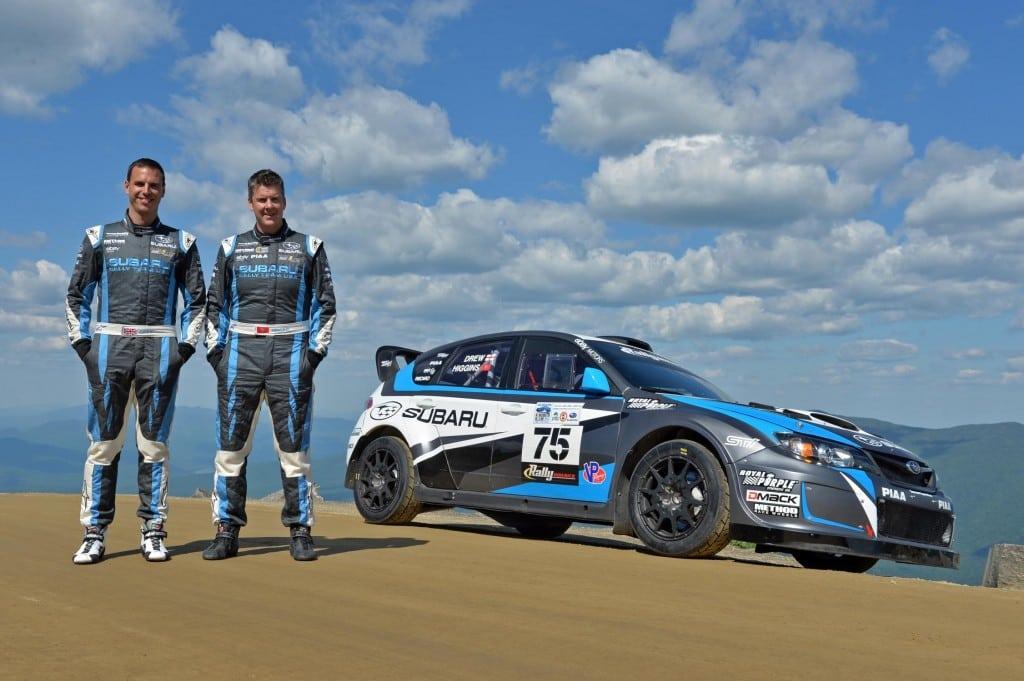 David Higgins and Craig Drew broke the Subaru Mt. Washington Hillclimb record Sunday with their Subaru WRX STI rally car.