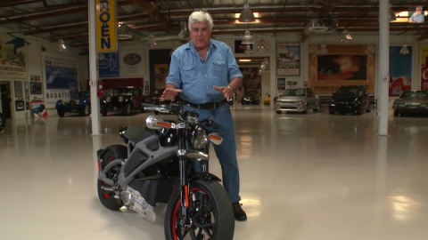 Jay Leno rides the Harley Davidson LiveWire (VIDEO)
