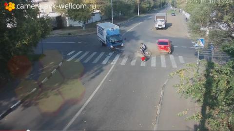 Luckiest Bike Rider in the World? (VIDEO)