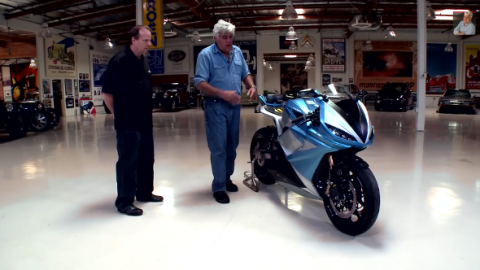 Lightning Motorcycles stops by Jay Leno's Garage