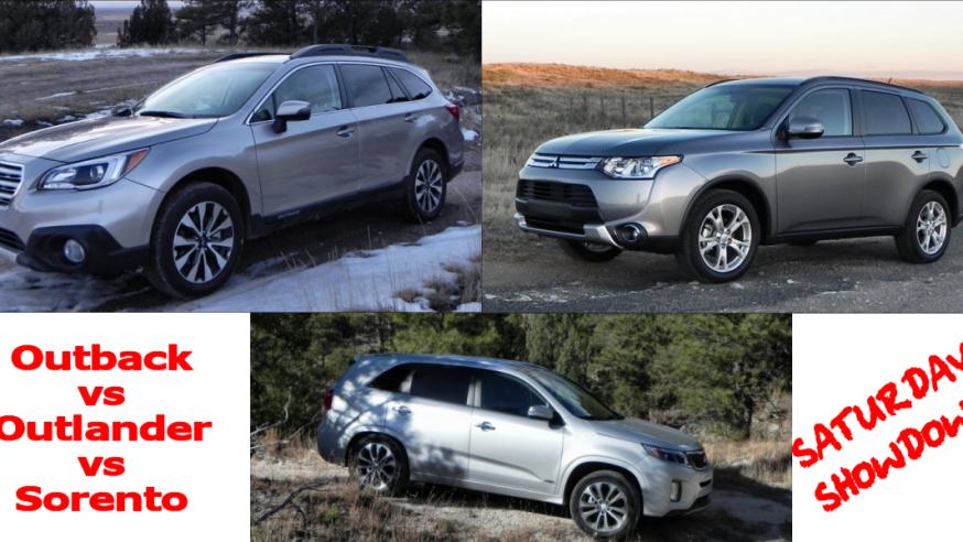 2015 Subaru Outback vs Mitsubishi Outlander vs Kia Sorento – Saturday Showdown