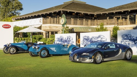 Bugatti Presents Super Sports Cars From Its History at Pebble Beach