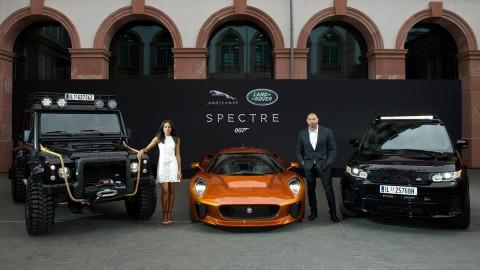 Jaguar Land Rover Unveils Bond Cars
