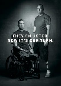 GMC launched the #enlistme Campaign in support of the Stephen Siller Tunnel to Towers Foundation and its Building for America's Bravest program to raise awareness and funds to help the Foundation build custom, specially adapted smart homes for severely injured veterans.