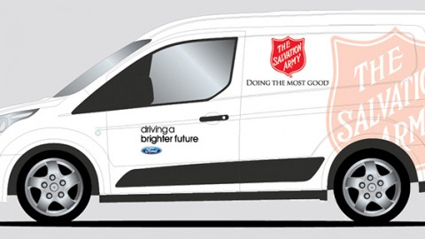 Ford Transit Connect Vans Donated to Feed Those In Need