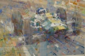 Artist Dexter Brown will be at the London Classic Car Show