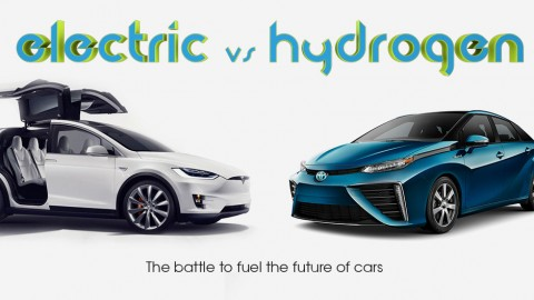 Electric vs Hydrogen infographic