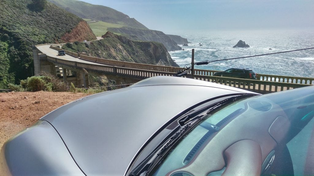 Boxster at the Bixby Creek Bridge