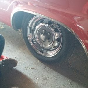 The Dart's wheels before the RimBlades were installed.