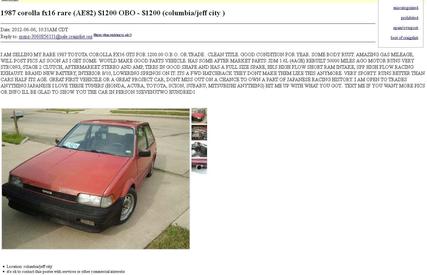 Tips For Buying A Used Car From Craigslist CarNewsCafe - May best craigslist ad car ever