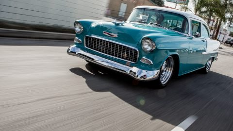 A 1955 Chevrolet Belair 2-door Coupe Restomod Visits Jay Leno