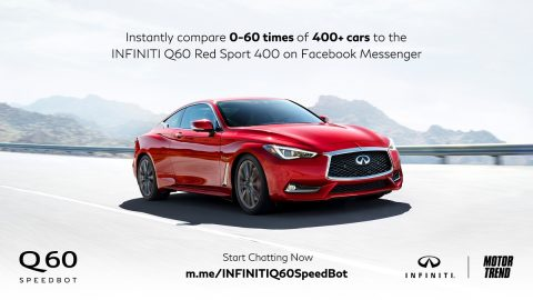 Infiniti and Motor Trend team up with Q60 Speedbot
